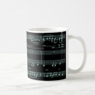 Uppsättning det till musik kaffemugg