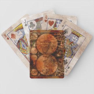Uppsättning för formgivare för karta för gammal spelkort