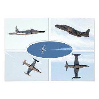 Uppsättning för stjärna 5 för skytte P-80 plan 8,9 X 12,7 Cm Inbjudningskort
