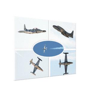 Uppsättning för stjärna 5 för skytte P-80 plan Canvastryck