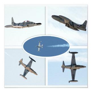 Uppsättning för stjärna 5 för skytte P-80 plan Fyrkantigt 13,3 Cm Inbjudningskort