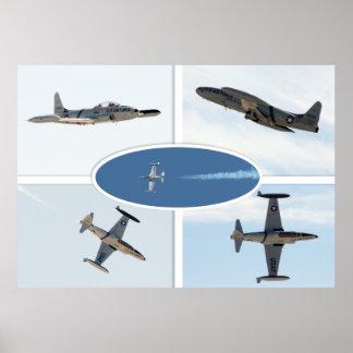 Uppsättning för stjärna 5 för skytte P-80 plan Poster