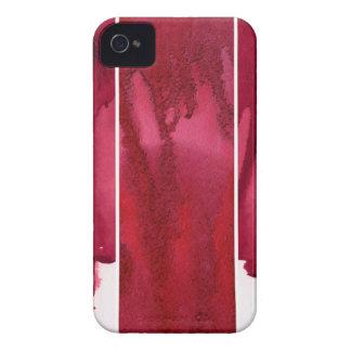 Uppsättningen av röd vattenfärgabstrakt räcker iPhone 4 hud