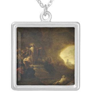 Uppståndelsen av Lazarus 2 Silverpläterat Halsband