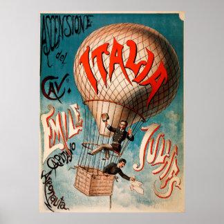 Uppstigning av Cav. Emile Julhes… Poster