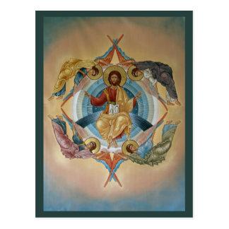 Uppstigning av Kristusbönkortet Vykort