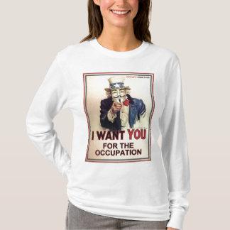 Uppta överallt kvinna långärmadutslagsplatsen t shirts