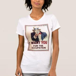 Uppta överallt kvinna utslagsplats tee shirt