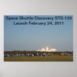 Upptäckt barkass STS-133 Poster