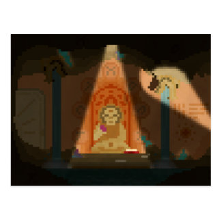 Upptäckt i vykortet för grottaPIXELkonst Vykort