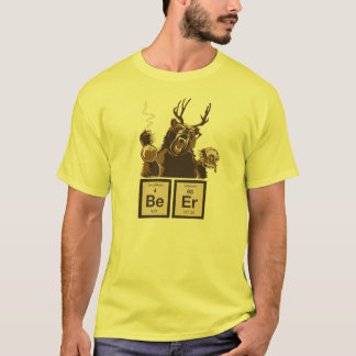 Upptäckt öl för kemi björn t-shirt