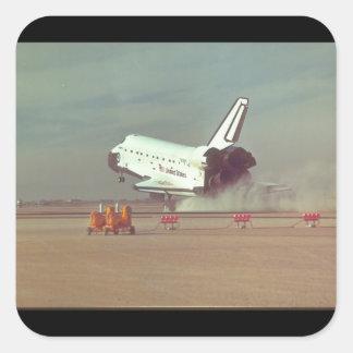 Upptäckt på desert_Space Fyrkantigt Klistermärke