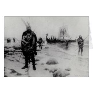Upptäckten av Amerika av Leif Eriksson Hälsningskort