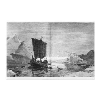 Upptäckten av Grönlandet Canvastryck
