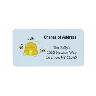 Upptagen bikupa vår adress adressetikett