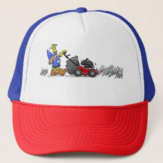 Upptagen Gnome. Truckerkeps