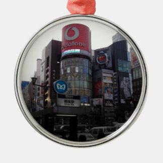 Upptagen Tokyo genomskärning Julgransprydnad Metall