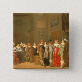 Uppvakta plats, 1644 (olja på kanfas) standard kanpp fyrkantig 5.1 cm