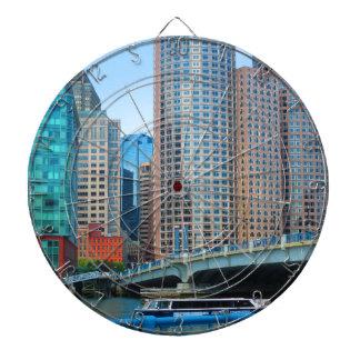 Urban landskap kontorstorn från den Boston staden Dart Tavlor