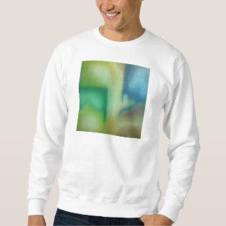 Urblekt abstrakt oljemålning för blått & för grönt sweatshirt
