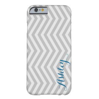 Urblekt grå färgMonogram för stilfull sparre Barely There iPhone 6 Skal