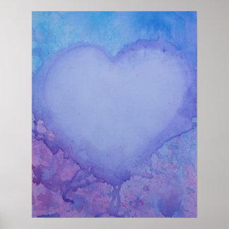 """Urblekt hjärta 20"""" x 16"""", värderar (Matte)"""