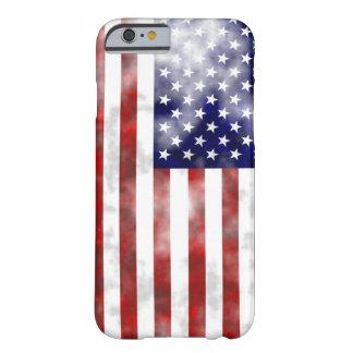 Urblekt trevlig mönsterflagga för USA Barely There iPhone 6 Fodral