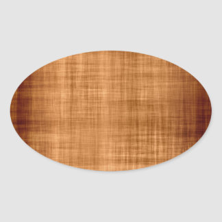 Urblektt brunt tyg ovalt klistermärke