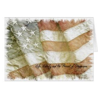Urblektt flaggakort hälsningskort