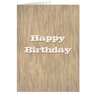 Urblektt grovt Wood födelsedagkort Hälsningskort