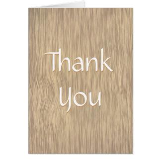 Urblektt grovt Wood tackkort Hälsningskort