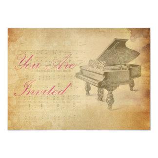 Urblektt piano för vintage 12,7 x 17,8 cm inbjudningskort