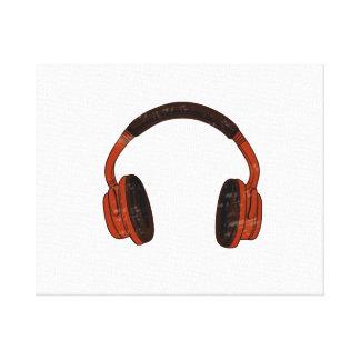 Urblektt rött brunt grafiskt för hörlurarGrunge Canvastryck