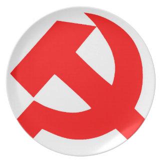 Urinnevånaren bultar och skärasovjet - union CCCP Tallrik