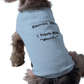 Ursäkta mig hund design husdjurströja