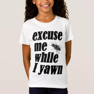 Ursäkta mig stunder som jag gäspar tee shirts