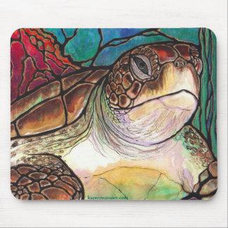 Ursnygg konst för stil för havssköldpaddamålat gla musmatta