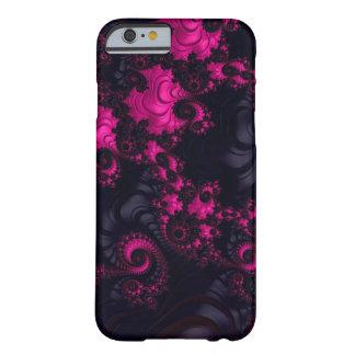 Ursnyggt fodral för rosasvartFractal iPhone6 Barely There iPhone 6 Skal