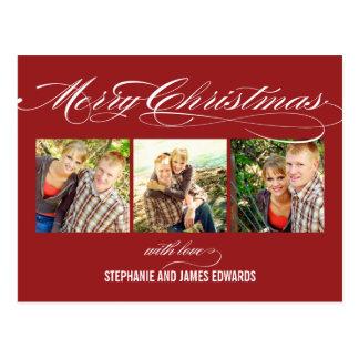 Ursnyggt skriva julfotokortet vykort