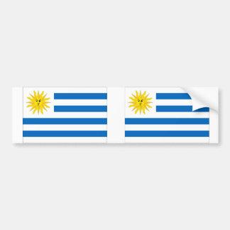 Uruguay flagga bildekal