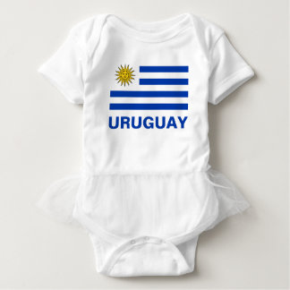 Uruguay flagga med anpassadeblåtttext tee shirts