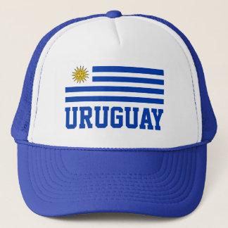 Uruguay flagga med anpassadeblåtttext truckerkeps