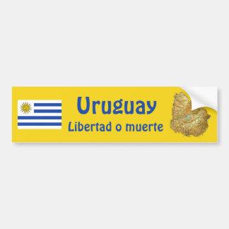 Uruguay flagga och kartabildekal bildekal