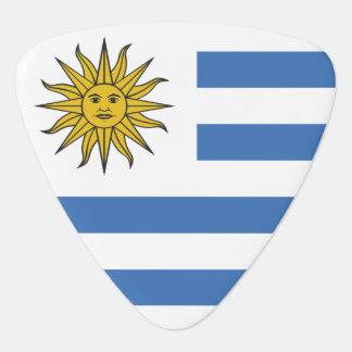 Uruguay flagga plektrum