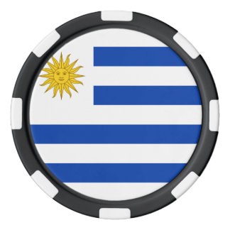 Uruguay flagga poker marker