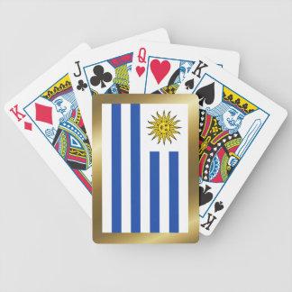 Uruguay flagga som leker kort spelkort