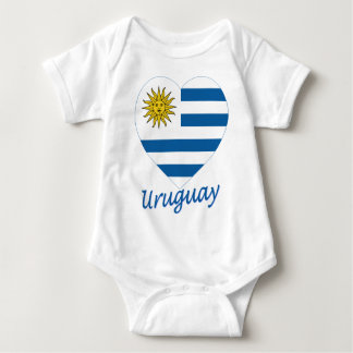 Uruguay flaggahjärta t-shirts