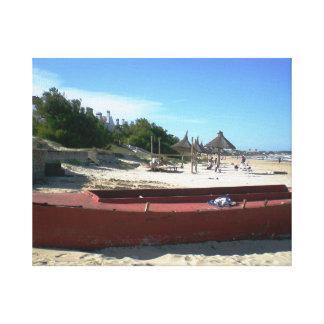 Uruguay gammalt rött fartyg canvastryck