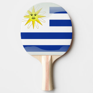 Uruguay glansig flagga pingisracket