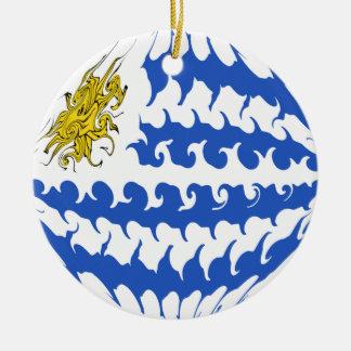 Uruguay Gnarly flagga Jul Dekorationer